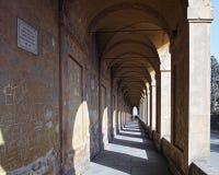 Kolumnada San Luca sanktuarium w Bologna obraz royalty free