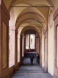 Kolumnada San Luca sanktuarium w Bologna obraz stock
