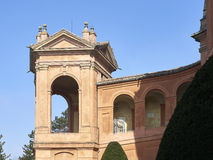 Kolumnada San Luca sanktuarium w Bologna zdjęcie royalty free