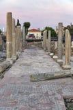 Kolumnada w kościół Agia Kyriaki, Paphos, Cypr obraz stock