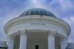 Kolumnada w Marianske Lazne Marienbad - republika czech zdjęcia royalty free