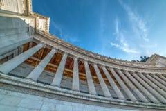 Kolumnada w ołtarzu Fatherland w Rzym, zdjęcie royalty free