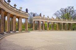 Kolumnada w Sanssouci parku w Potsdam w Niemcy zdjęcie royalty free