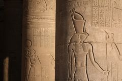 kolumny świątyni egiptu fotografia royalty free