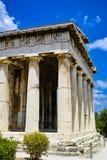 Kolumny świątynia Hephaestus Fotografia Royalty Free