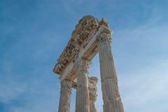 Kolumny świątynia Trajan Obrazy Royalty Free
