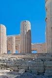 Kolumny akropol. Zdjęcie Stock