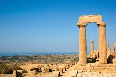 kolumny dorics świątynie dolinne panoramy Zdjęcia Stock