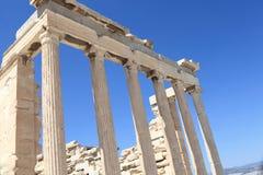Kolumny Erechtheum świątynia Zdjęcia Stock