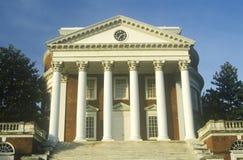 Kolumny na budynku przy uniwersytetem Virginia inspirowali Thomas Jefferson, Charlottesville, VA fotografia royalty free