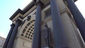 Kolumny panoramy widok 4K zdjęcie wideo