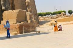 kolumny podwórzowy święty Luxor najwięcej bocznej świątyni zdjęcia stock