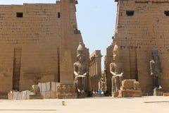 kolumny podwórzowy święty Luxor najwięcej bocznej świątyni obrazy stock