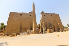 kolumny podwórzowy święty Luxor najwięcej bocznej świątyni fotografia royalty free