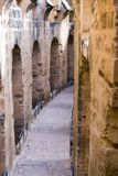 Kolumny w Amphitheatre El Jem w El Djem, Tunezja zdjęcia stock