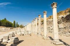 Kolumny w Ephesus Fotografia Royalty Free