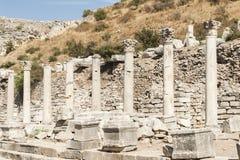 Kolumny w Ephesus Zdjęcia Stock