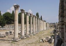 Kolumny w Merkantylnej agorze, Ephesus Zdjęcie Royalty Free