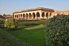 Kolumny w pałac - Agra Czerwony fort India Zdjęcie Stock