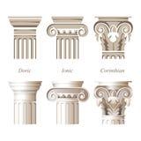 Kolumny w różnych stylach ilustracji