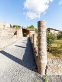 Kolumny w ruinach Pompeii Zdjęcie Royalty Free