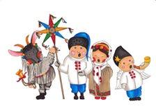 Kolyada op een witte achtergrond Stock Foto's