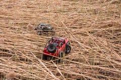Kolyazin, regione di Mosca/Federazione Russa - 1° maggio 2014: Movimenti dei martelli della jeep del crowler del trofeo delle aut fotografia stock