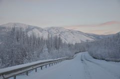 Kolyma highway Stock Images