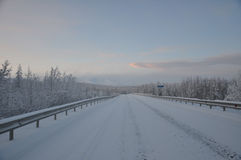 Kolyma winter Royalty Free Stock Photo