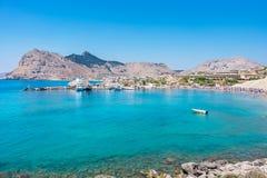Kolymbia coastline. Rhodes, Greece Royalty Free Stock Photos