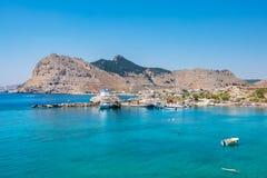 Kolymbia coastline. Rhodes, Greece Stock Images