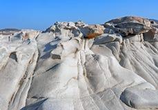 Пляж Kolymbithres острова Paros в Греции Стоковая Фотография