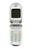 komórka clamshell odizolowane telefon Fotografia Stock