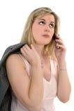 komórka kobieta Zdjęcie Royalty Free