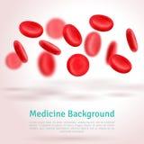 Komórka krwi mapy tła oko medical optometrist 3d kształt Obraz Royalty Free