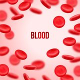 Komórka krwi mapy tła oko medical optometrist 3d kształt Fotografia Royalty Free
