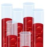 Komórka krwi tubki bada tubki   Obraz Royalty Free