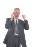 komórka telefon szczęśliwy męski Fotografia Royalty Free