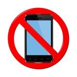komórka telefonu żadny znak Zdjęcie Stock