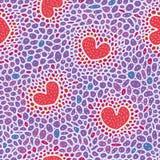Komórka wzór z sercami Obraz Royalty Free
