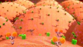 Komórki błona ilustracja wektor