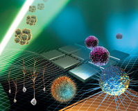 komórki badania trzon royalty ilustracja