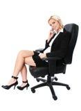 komórki bizneswomanu young Obrazy Stock