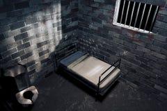 komórki ciemny noc więzienie Zdjęcia Stock