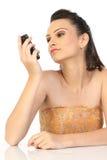 komórki dziewczyny telefon nastoletni Zdjęcia Royalty Free