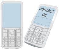 komórki komunikaci kontaktu telefonu ekran mądrze ilustracja wektor