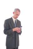 komórki męski telefonu używać Obraz Stock