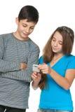 komórki mody dzieciaków telefon zdjęcie royalty free