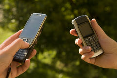 komórki ręki telefon fotografia stock
