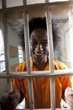 komórki szczęśliwy mężczyzna więzienie Obrazy Stock